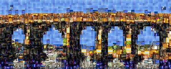 Final Artensoft photomosaic that was used as a guide for the artwork